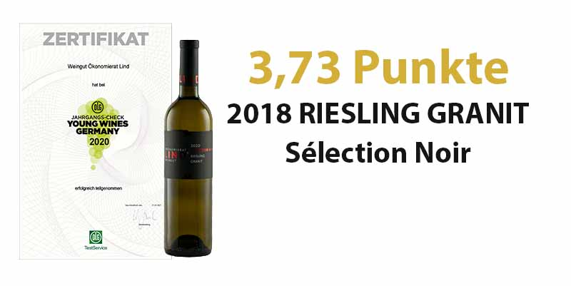 Young Wines Germany 2021 – 3,73 Punkte für unseren 2020 RIESLING GRANIT Sélection Noir