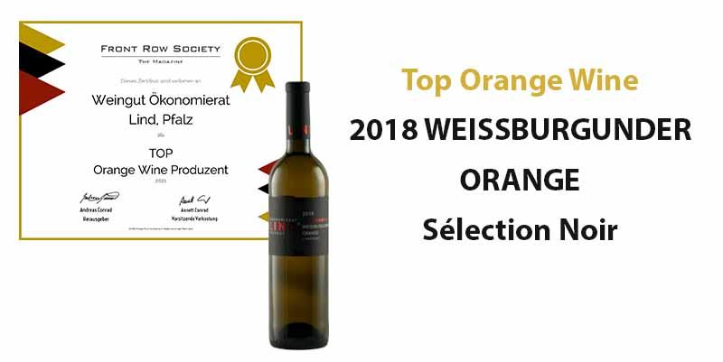 Best of Orange Wine 2021: Top Orange Wein für unseren 2018 WEISSBURGUNDER ORANGE Sélection Noir